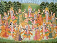 Rasa Lila of Lord Krishna and Radha
